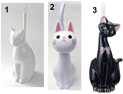 Animal Toilet Paper Holder by Cat Shaped Toilet Bowl Holders