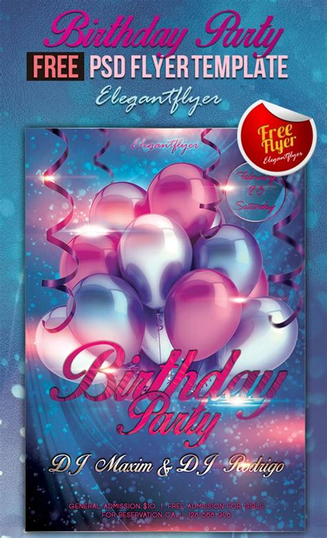 free birthday flyer templates 11 free psd flyer templates may 2016