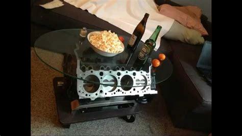 small block coffee table v8 tisch camaro 5 0 small block motortisch engine coffee