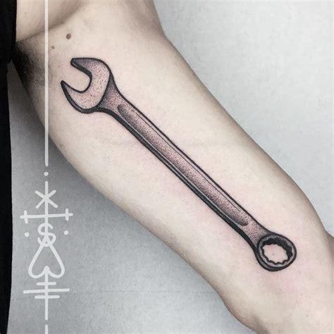 tattoo design tool arm tool wrench tattoo dotwork tattoo style pinterest