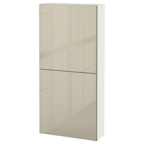 ikea besta cabinet doors best 197 wall cabinet with 2 doors white selsviken high gloss