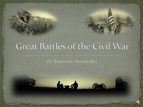 Great Battles Of The Civil War Authorstream Civil War Powerpoint Template