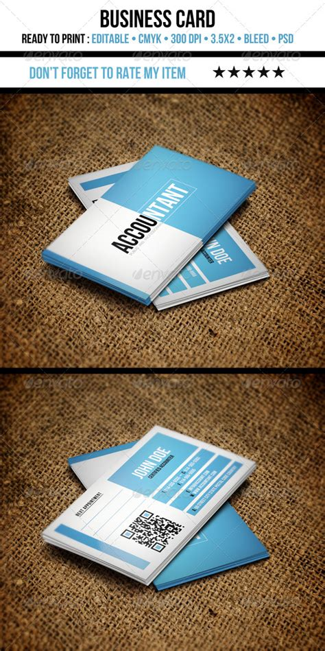 Business Card Accountant Mba by Accountant Business Card Graphicriver