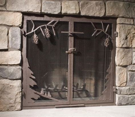 mesh curtain fireplace screen fireplace screens doors and tools