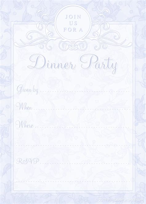 Free Printable Dinner Party Invites Printable Party Kits Free Printable Dinner Invitations Templates