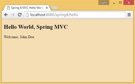 spring mvc tutorial xml configuration spring 4 mvc tutorial maven exle spring java