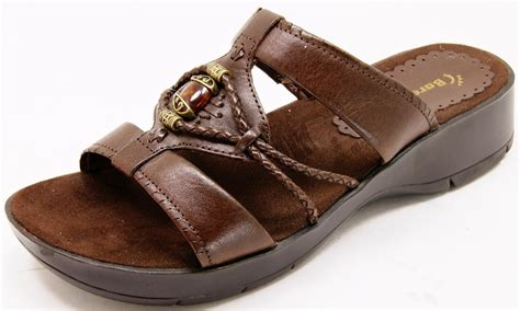 baretrap sandals bare traps slides sandals brown leather s