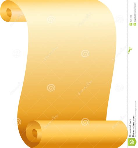 How To Make A Paper Scroll - scroll paper stock vector image of paper announcement