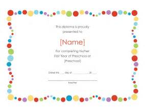 welcome certificate templates pre k certificates of completion preschool award