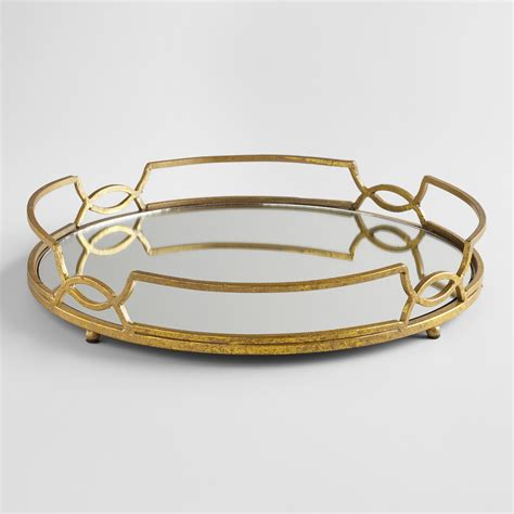 gold mirrored tabletop tray world market