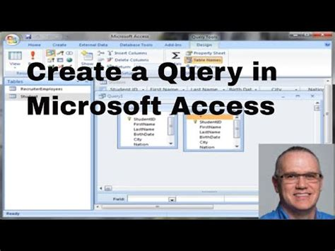 tutorial video access ms access 2007 query tutorial youtube