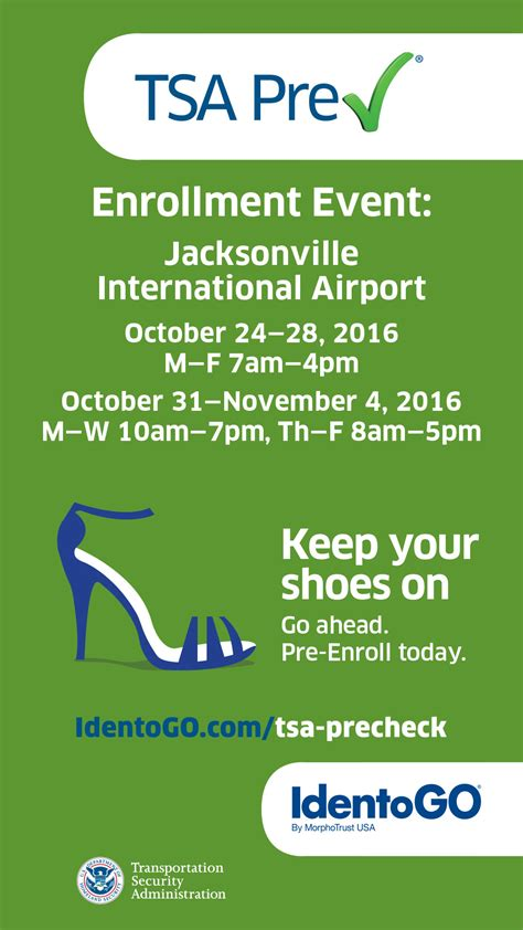Tsa Help Desk Number by Limited Time Offer Enroll For Tsa Precheck At Jax Jet