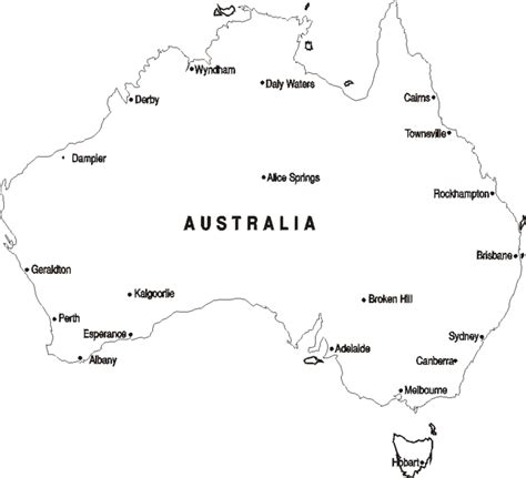 australia map coloring pages