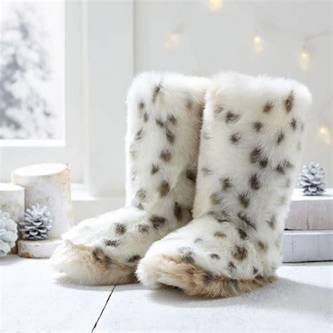 snow leopard faux fur comforter snow leopard faux fur booties pbteen
