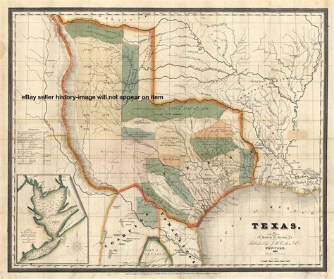 texas history map texas map in 1800