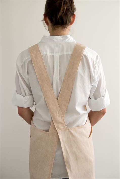 pattern cross back apron free pattern from purl soho crossback apron shown in