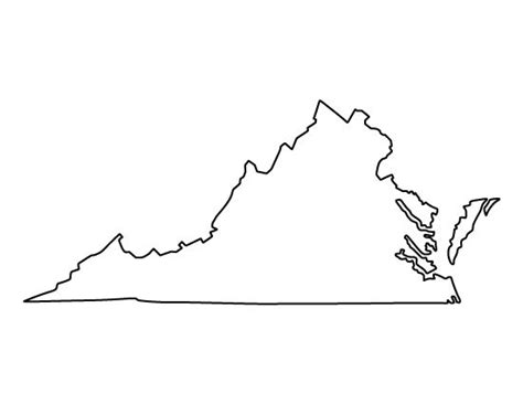 virginia state colors virginia pattern use the printable outline for crafts
