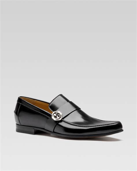 gucci leather loafers for gucci paraguay leather loafer in black nero lyst