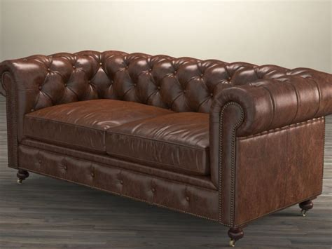 72 leather sofa 72 quot the petite kensington leather sofa 3d model