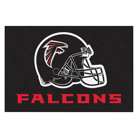 atlanta falcons rug fanmats atlanta falcons 19 in x 30 in accent rug 5668 the home depot