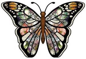 Butterfly Decoupage - artbyjean paper crafts set a01 theme patchwork