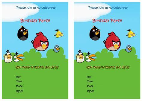 free printable birthday invitations angry birds angry birds birthday invitations birthday printable