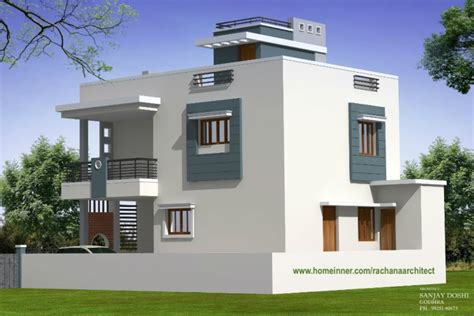 Indian Home Design Ideas With Floor Plan by Modern Low Cost Gujarat Home Design By Rachana