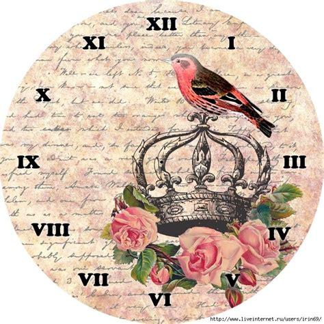 imagenes vintage redondas reloj vintage con pajaro plantillas para imprimir