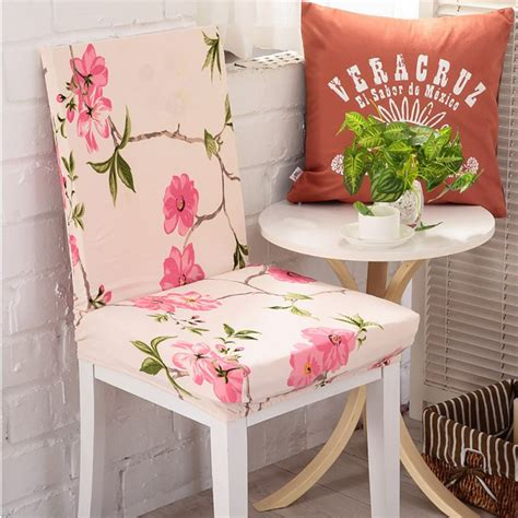 Dining Room Chair Covers Floral Fancy Dining Room Wedding Banquet Floral Chair Seat Cover