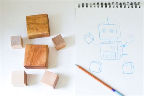 Small Houses To Build diy wooden robot buddy easy project for kids