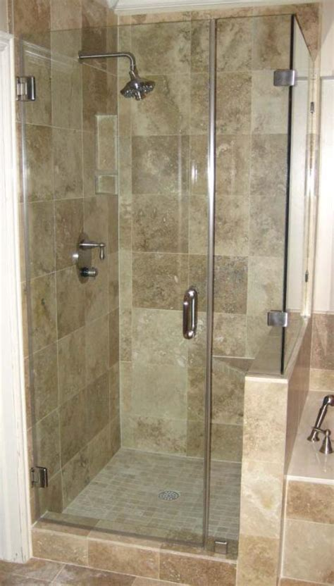 Corner Glass Shower Doors Frameless by Rockwall Glass