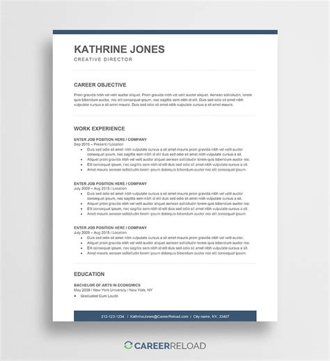 resume format in microsoft word free microsoft office resume