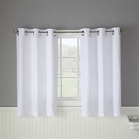 45 inch curtain panels buy hookless 174 waffle 45 inch window curtain in white from
