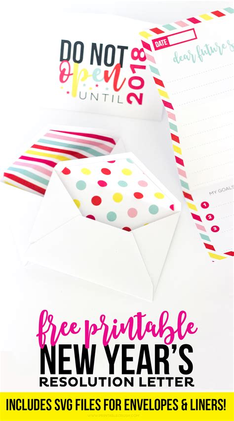 printable new year s resolution letter and envelopes