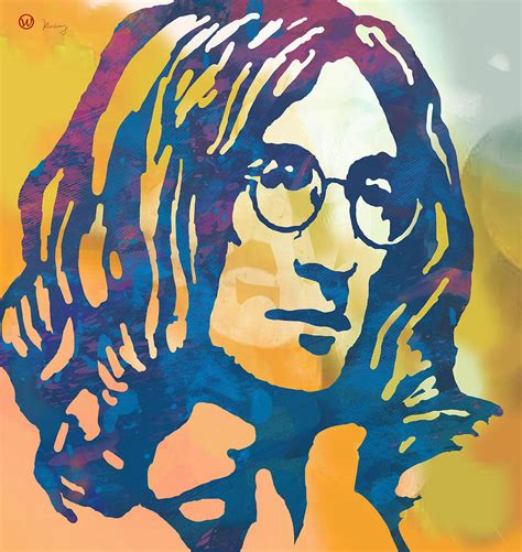Lenon Poster lennon pop poster drawing by wang