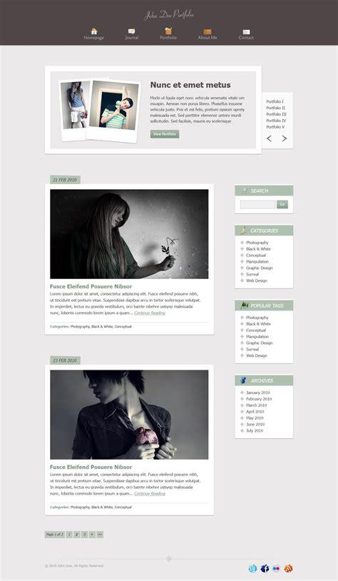 blogspot themes portfolio free psd template for portfolio blog vector graphics