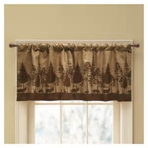 Brown Valance For Windows Ideas Shop Style Selections Woodland Scenic 19 In Brown