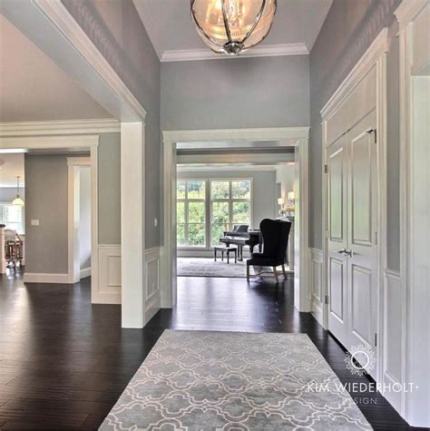 transitional entrance foyer sherwin williams light gray