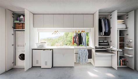 armadio con asse da stiro incorporato mobile lavanderia stireria anche su misura