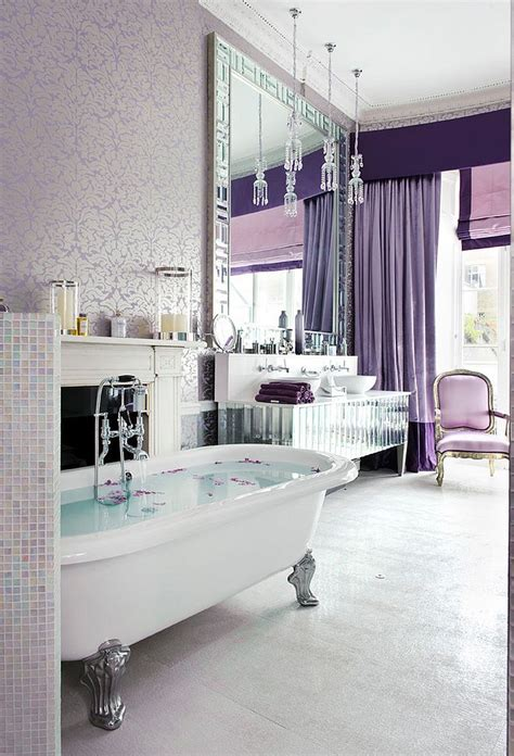 glam bathroom ideas 23 amazing purple bathroom ideas photos inspirations