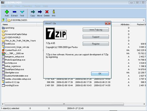 windows 8 extract files from archives zip 7z etc 7 zip 16 file compression fileeagle com