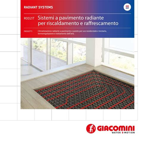 giacomini riscaldamento a pavimento sistemi a pavimento radiante folder italiano by
