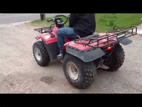 Suzuki Quadrunner Lt 4wd 1987 Suzuki Quadrunner 250 Lt 4wd How To Save Money And