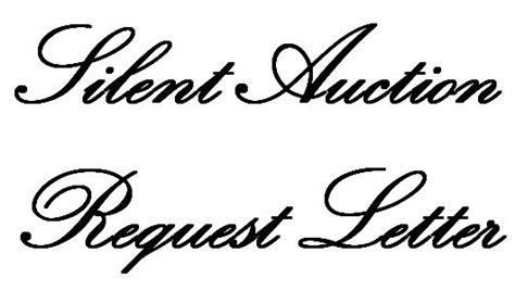 Fundraising Auction Letter silent auction request letter auction silent auction