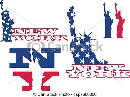 icon design nyc clip art vector of new york and statue of liberty