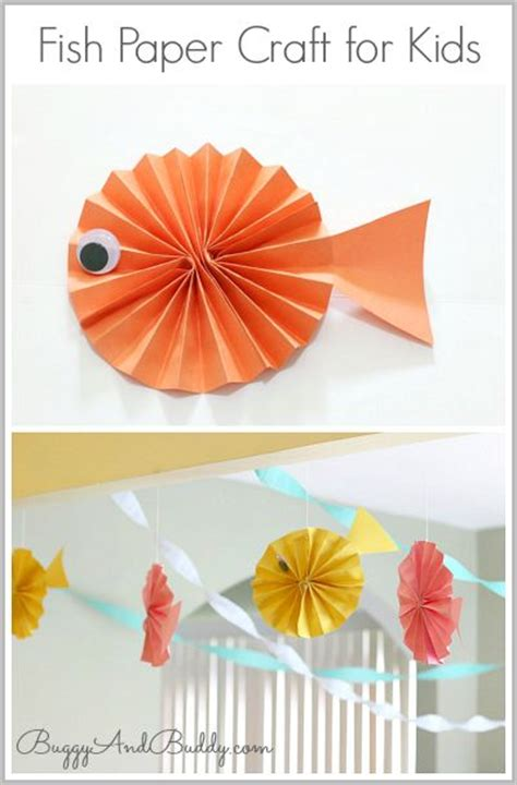 Paper Fish Craft - fish paper craft for
