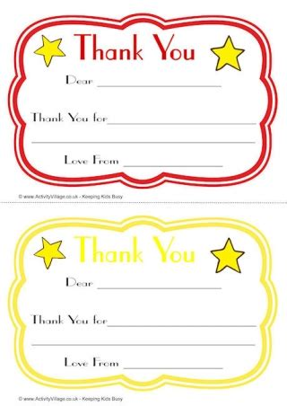 thank you card template with lines thank you notes