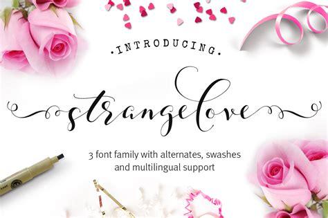 Wedding Fonts On by Strangelove Wedding Font Family Script Fonts On