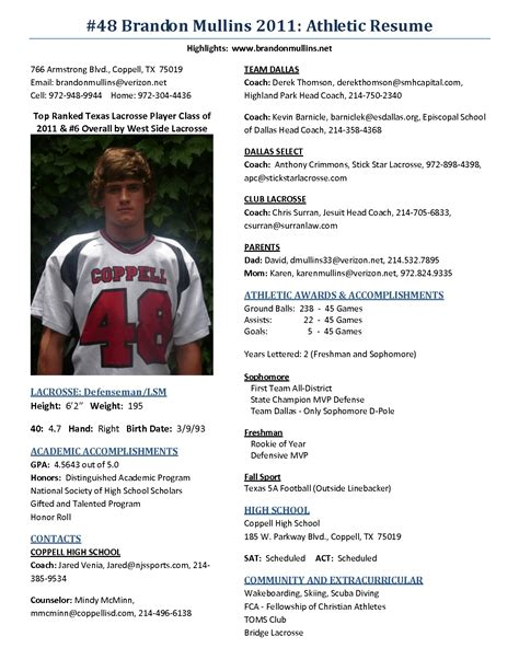 athletic resume the best resume