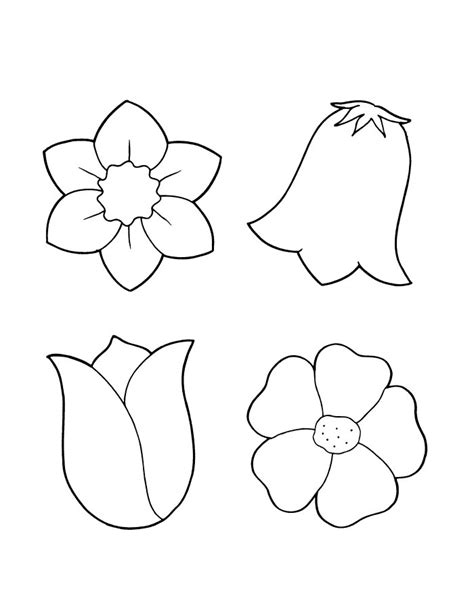 flower colouring template flower coloring pages flower coloring page
